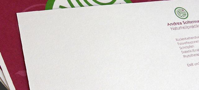 Werbe- und Visitenkarte Andrea Soltermann Naturheilpraktikerin